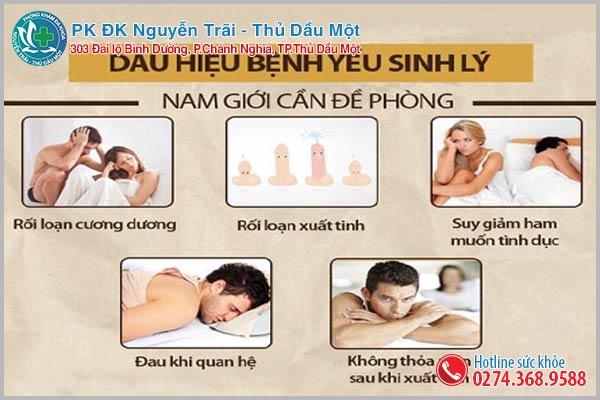 Nhận biết tình trạng yếu sinh lý ở nam giới