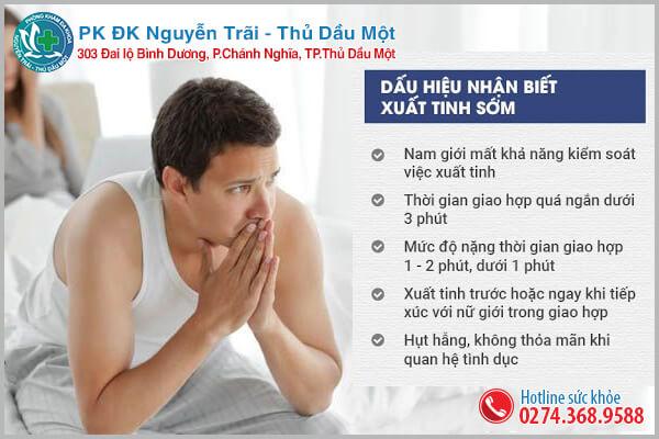 Dấu hiệu mắc phải xuất tinh sớm thường gặp phải ở nam giới
