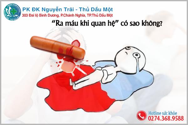 Nam giới ra máu khi quan hệ có sao không? Cách để khắc phục?