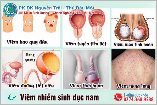 7 bệnh lý viêm nhiễm sinh dục nam thường gặp ở nam giới