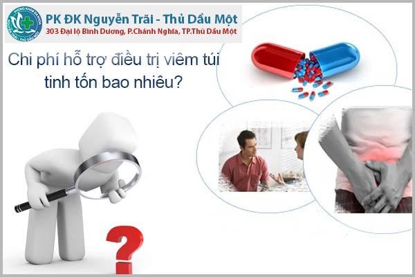 Chi phí hỗ trợ điều trị viêm túi tinh tốn bao nhiêu?
