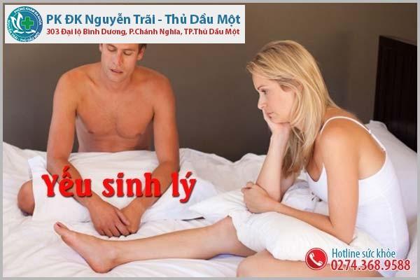 Dấu hiệu yếu sinh lý ở nam giới